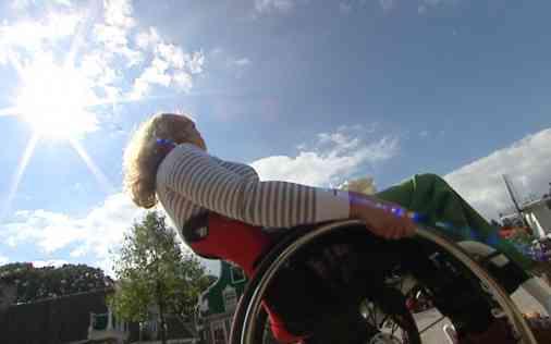 Dynamische antikiep, ontspannen rolstoelrijden
